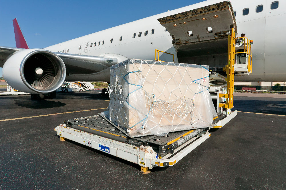 cargo on an airplane