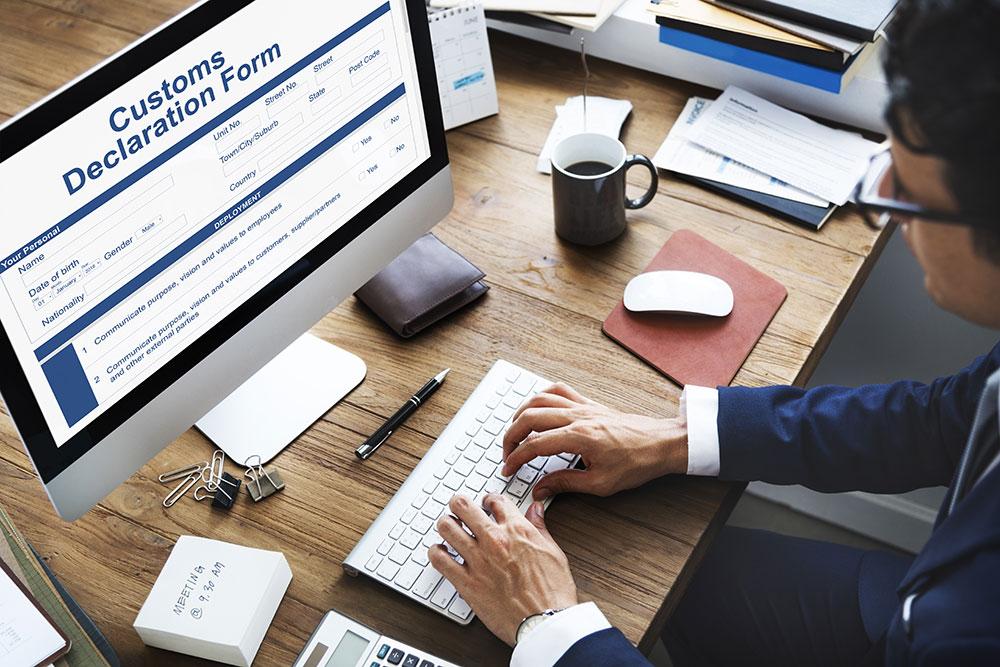 Customs online form